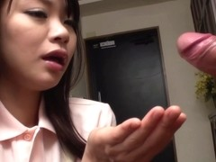 Brunette Provides Amazing Japanese Blowjobs