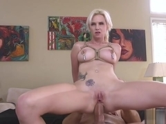 Talented star anal fucked by agent in bdsm