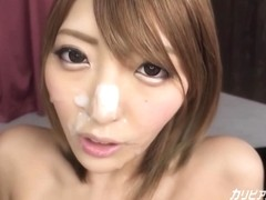 Amazing busty Asian girl filled by big cock