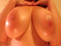Chubby Blonde With Curly Hair Sucking And Titty-Fucking