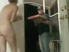 College hazing flashing pizza fellow naked