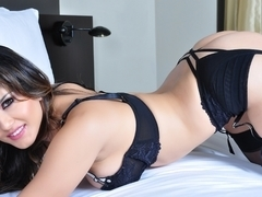 Sunny Leone in Black Lingerie Video