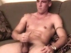 Guy In Army Uniform Whacking Off