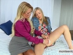 Stepmom Jennifer Best fucking with young couple on the bed