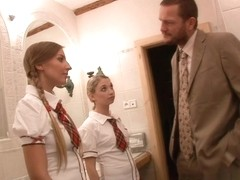 Mina Lee,Morgan Moon in School Girls Blows And Fucks For Grades