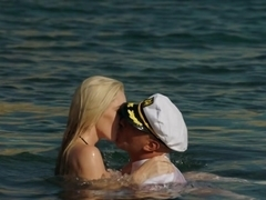 VIXEN Kendra Sunderland passionate sex on a beach