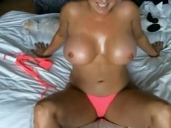MILF fake tits play