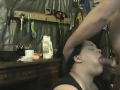 on her knees jerk off facial pov