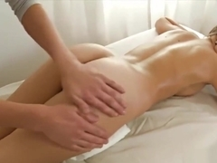 Cute Daniela is nailed after a massage