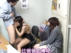 Cute Jap teen banged in voyeur video in front of her BFF