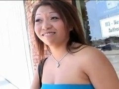 Adorable Jasmine Leih helps black dude