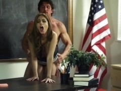 Jenna Haze fucks the teacher - brunette, heels, sex, hardcore