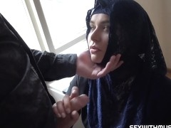 disgraced muslim hijab takes dick like a champ