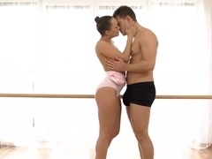 Flexible Dancer Swallows Cum