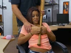 Lovely woman pounded by horny pawn dude