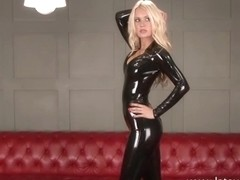 Sexy softcore model Alessandras latex fetish and rubber