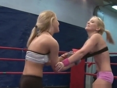Wrestling lezzie assfingered and pussylicked
