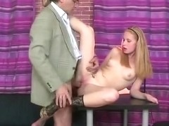 Russian Blonde Student Fucks a Tricky Old Teacher