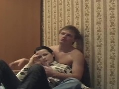 Pretty Russian couple demonstrate their sexual life