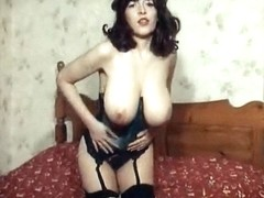 THE BIG TEASE - vintage British huge boobs striptease
