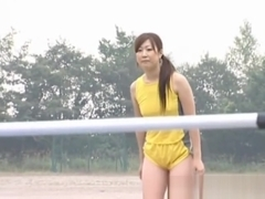 Asian amateur in nude track and field part3