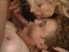 Two Mature Women Seduce a Young Cock