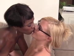 Naughty lesbians have fun with toys