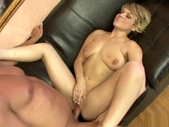 Lustful blonde Tyla Wynn loves to suck cock and to get pounded hard