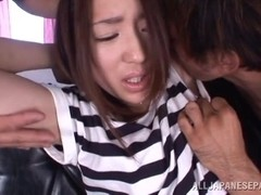Raina hot insatiable Asian milf is into hardcore threesomes