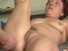 German granny fucked by a young stud