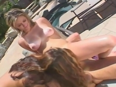 Serena South And Tyla Wynn Show Cock A Good Time By The Pool