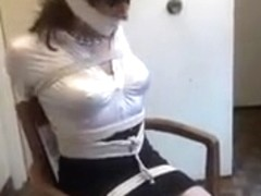 Tranny Estate Agent tied