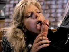 Angela Summers, Jon Dough in nasty facial cumshot for a classic porn chick