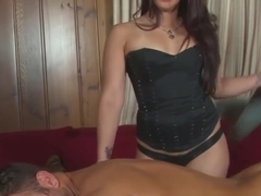 CBT fetish babe dominates her customer