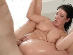 Angela White - Big Titted Bubble Bath