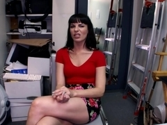 Cock crazy blowjob in the office