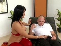 Hot red color by Miss Raquell excites Jmac's long dick