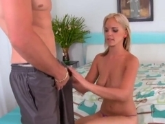 Busty gal Holly pleasing a stiff cock with all her horniness