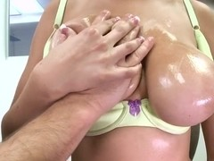 Alexia Rae whips out her gigantic titties
