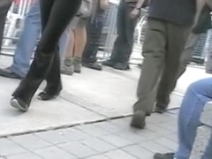 Marvelous ass of a random passerby caught on tape