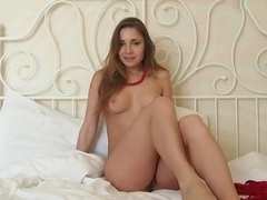 Teen Girl Alice FInally Getting Naked On The Bed