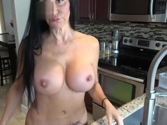 Butt3rflyforu In Milf Washing Dishes With New Boobs Squirts While Cleaning