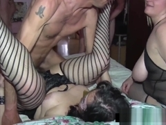 Amateur Snowballing for two whore wives