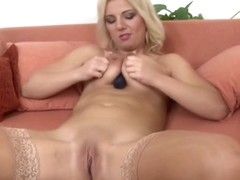 Sugar mature female in passionate masturbation porn video