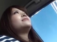 Exotic Japanese chick Erika Kashiwagi in Horny Car, High Heels JAV movie