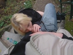 Real teen pickedup and drenched with cum pov