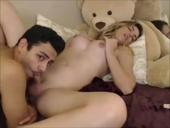 Blonde Trans Getting A Hot Deepthroat BJ By A Guy
