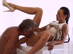 OLD4K. Hot sex is how old boss and his worker relax after...