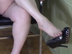 BBW Shoe Dangle Crossed Legs