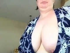 Busty teacher lets her tits hang out pt2